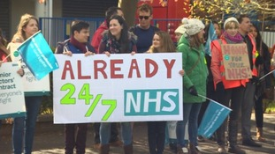 The strike is affecting emergency care services, including maternity care and A&E.