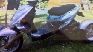 The stolen scooter