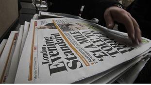 Evening Standard being given away