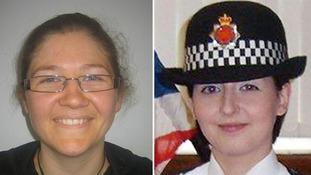 Pc Fiona Bone, 32, and Pc Nicola Hughes (right), 26