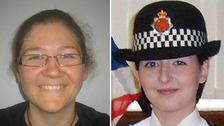 Pc Fiona Bone, 32, and Pc Nicola Hughes (right), 26