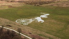 Giant land art created to impress Tour de Yorkshire TV audiences