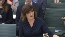Education Secretary Nicky Morgan answers questions from the Education Select Committee.