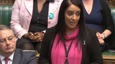 Naz Shah pictured here in the House of Commons