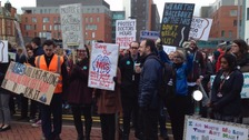 A picket line in North East