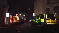 Emergency services at chemical incident in Cowes