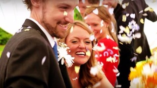 Kate and Mike on their wedding day