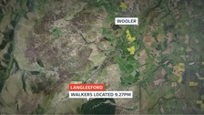 Emergency searches for 19 walkers in the Cheviot Hills