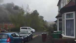 Fire in Lenton warehouse.