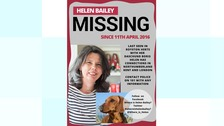 Friends ask the public to share Helen Bailey missing poster.