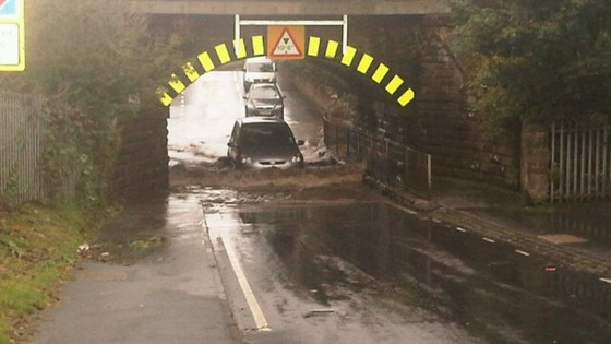 Floods: Difficult driving conditions in Carlisle