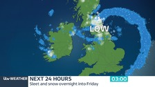 Overnight sleet and snow showers expected