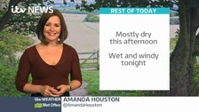 Sun with showers, but a wet & windy evening to come!