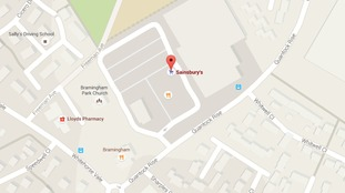Police were called to Sainsbury's car park in Quantock Rise.