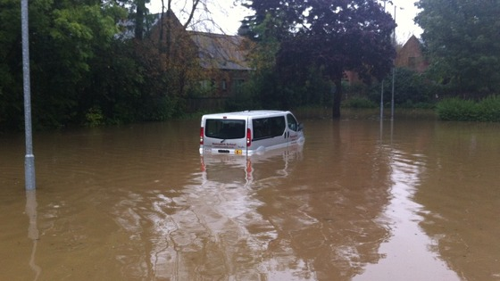 Vehicle trapped in Morpeth