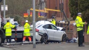 The scene in Wilbraham Road