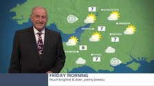 Bob Crampton with the weather