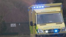 Driver dead after two ambulances crash