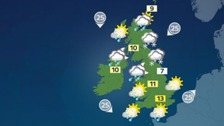 Cool and breezy with occasional wintry showers