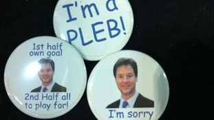 Delegates at the Lib Dem conference sets the standard for party badges. Yours for just 25p each.