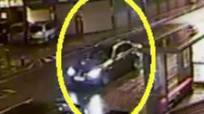 BMW ploughs into two men in shocking hit-and-run