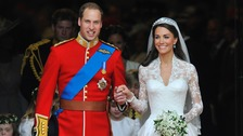 The Duke and Duchess on their wedding day.