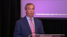 Nigel Farage speaking at a Ukip conference today