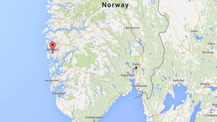 The helicopter crashed near Bergen on Norway's west coast