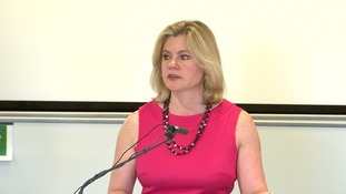 Justine Greening speaking at the London Business School