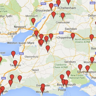 A map of all the school strikes