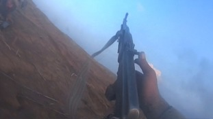 Still from Islamic State fighter's headcam footage