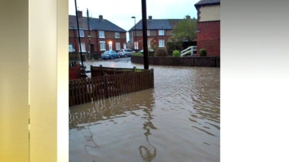 Floods Hit North Tyneside Homes Tyne Tees Itv News