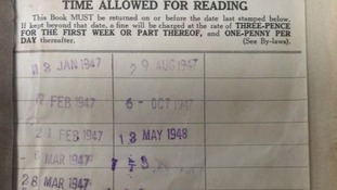 Overdue library booked returned - 67 years late
