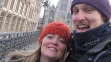 Wife hits fundraising target for cancer-stricken husband