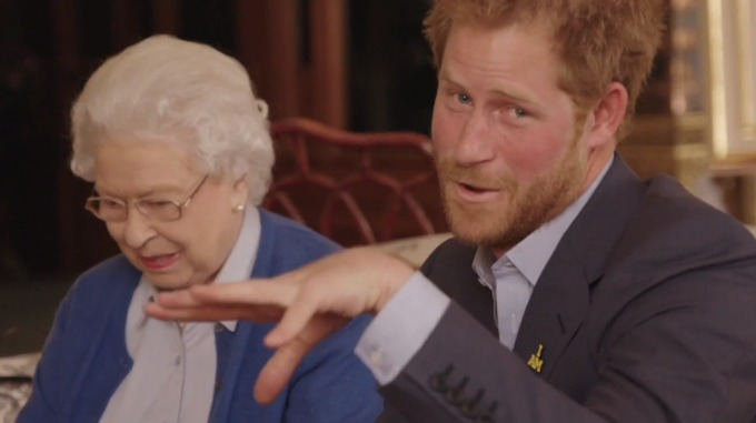 Prince Harry enlists the Queen to star in funny royal video