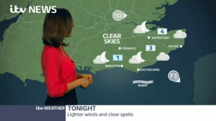 Friday's afternoon weather forecast in the east