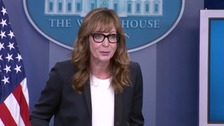 Allison Janney takes the White House press briefing.