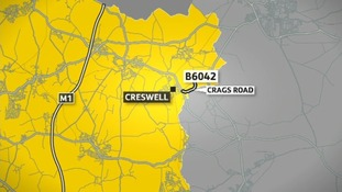 Two cars collided on the B6042 Crags Road in Creswell at about 4.45pm yesterday