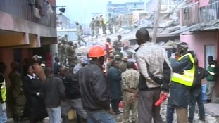 An operation is underway to find survivors of the building collapse.