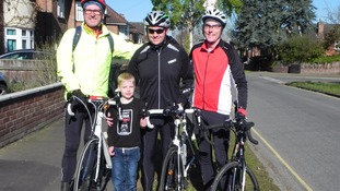 Family's cycle ride to raise awareness of their baby's heart transplant
