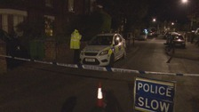 Police cordon at Westridge Rd in Southampton