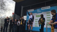 Kirsten Wild takes to winner's podium