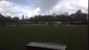 Foreboding weather at the ground