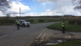 Police cordon set up near scene of plane crash