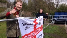 Workington football fans travelled to Greater Manchester for the  Evo-stik League Northern Premiership playoff final