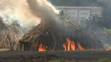 Kenya burns 100 tonnes of ivory in warning to poachers