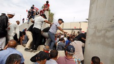 Protesters stormed Baghdad's Green Zone