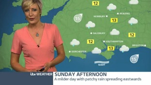 Saturday evening's weather for the west
