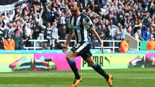 Andros Townsend celebrates his winning goal.