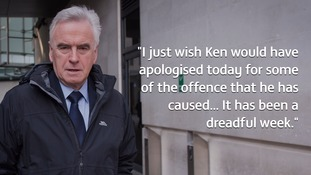 John McDonnell has called on Ken Livingstone to apologise